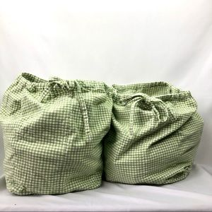 Pottery Barn Kids Bags Toy Storage Gingham Pattern